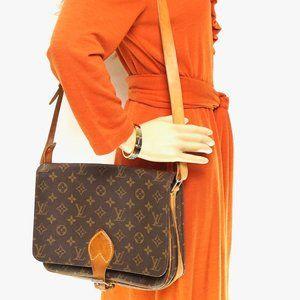 Auth Louis Vuitton Cartouchiere Gm #2910L19